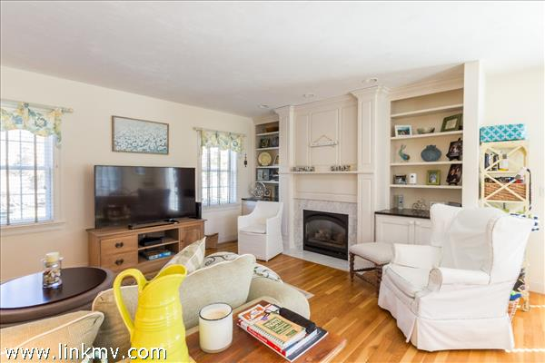 Built in's on either side of the fireplace enhance the appeal.
