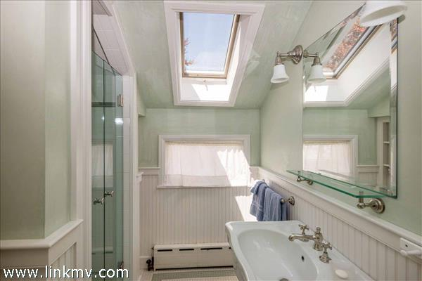 Private Bath #2 Has Glass Walk-In Shower - Second Floor