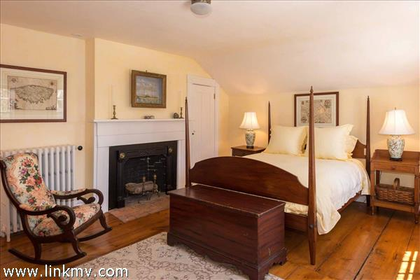 Bedroom Suite #2 Has Vaulted Ceilings, Fireplace and Private Bath - Second Floor