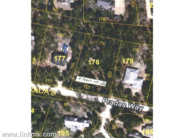 Aerial View 9 Prada's Way lot 178 a half acre with buffer zone at rear