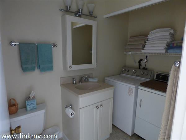 First floor full bath and laundry