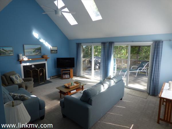 Living room, sliders to deck