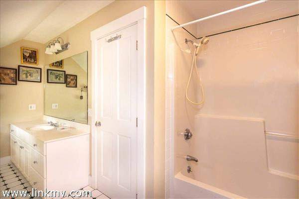 Shared Bathroom Has Tub and Shower Combination - Second Floor