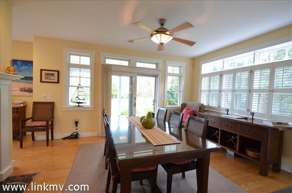 Dining Area with French Doors to private porch!