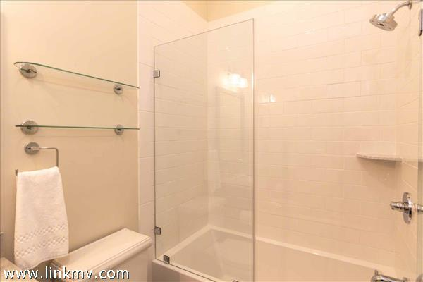Example of Bathroom with Tub and Shower Combination