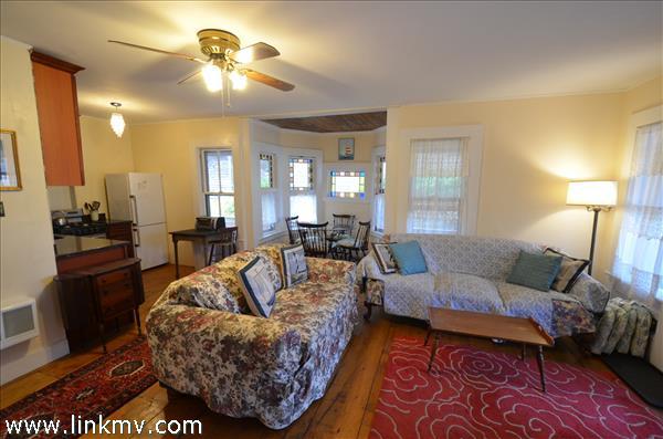Second Floor open living area with wood floors