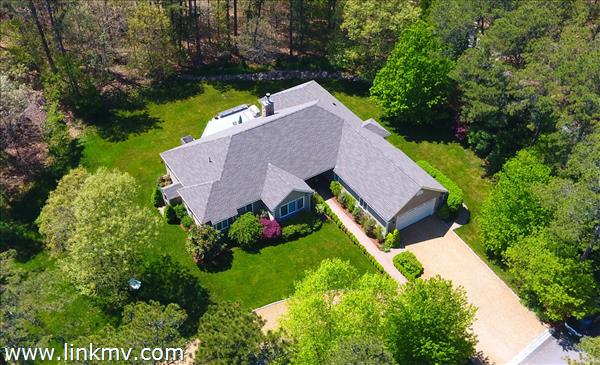 Aerial view of 7 Quail Run!NEW ROOF 2016