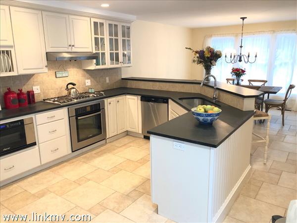 Kitchen with soapstone countertops