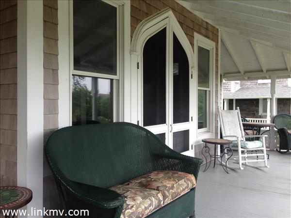 Front porch double doors