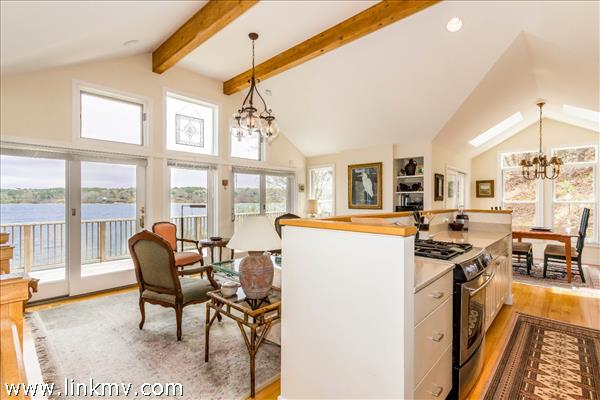 Open layout with cathedral ceilings and expansive views.