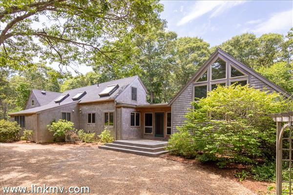 The 2.23-acre lot affords great privacy