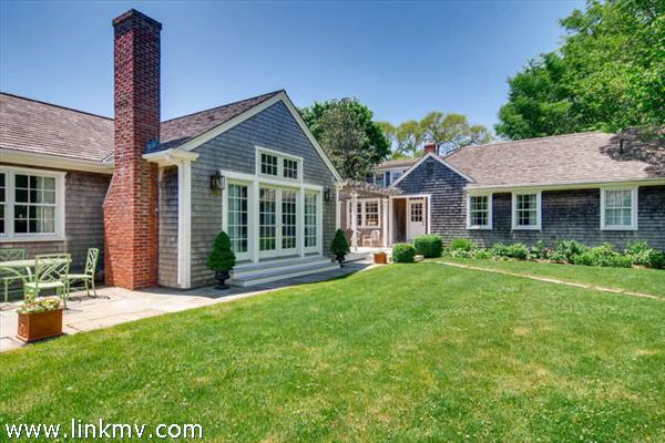 Edgartown village home with large yard, space for pool