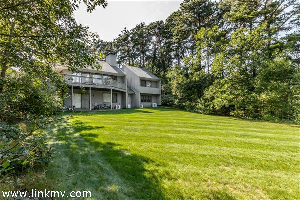 Expansive back lawn with plenty of room for outdoor living.