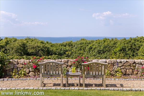 Yet another place to enjoy water views - these ones directly north to Vineyard Sound.