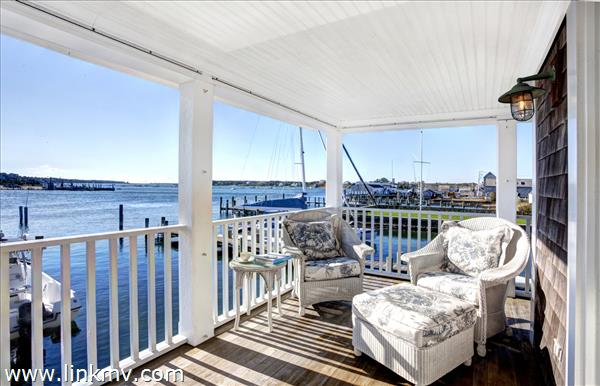 Ferry House porch off great room